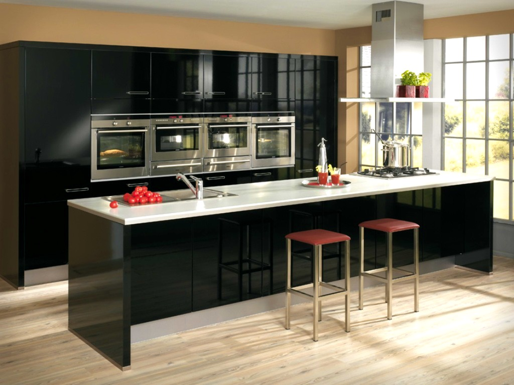 black modern cabinets